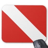 Dive Flag Mouse Pad