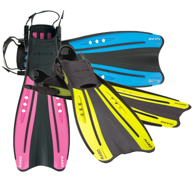 Diving and Scuba Fins, Open Heel or Full Foot at discount prices throughout Minnesota and the United States from White Bear Lake's MidWest School of Diving.